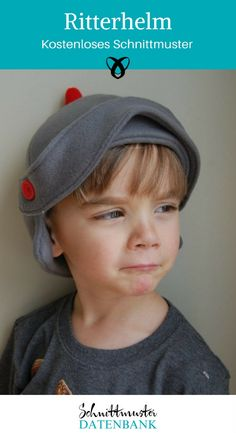 Fleece Knight Helmet Hat with tutorial and free pattern! Love Sewing, Sewing For Kids, Baby Sewing, Dress Up Outfits, Kids Outfits, Boy Dress, Diy Knight Costume, Sewing Patterns Free, Free Pattern