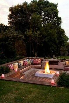 A fire pit that you will literally never want to leave! Huddle around here with some friends and a bottle of wine on a cool summer night