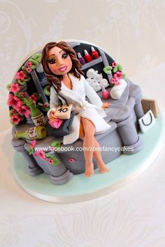 a day at the spa cake