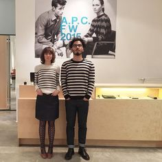 Staff from the A.P.C. Mulackstrasse store in Berlin.  #apc by apc_paris