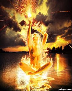 #art #fire #goddess