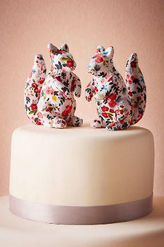 Printed Squirrel Cake Topper (2)