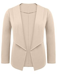 d2c20619c66 Zeagoo Women Plus Size Casual Work Office Open Front Blazer Jacket Cardigan  Plus Size Casual