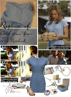 """Replica of Allie dress from the Notebook"" by aleksa ❤ liked on Polyvore"