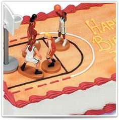 Basketball Birthday Cake:  Personalize this cake for a birthday or team party!