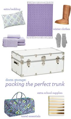 The Secret To a Perfectly Organized Dorm! We're sharing our secret weapon to creating extra storage and organization -- the trunk!