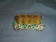 Bejeweled Lipstick Holder by Sam Finch SF Holds by Lynnestreasures