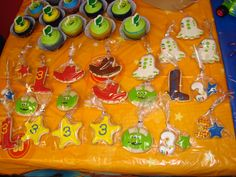 Toy Story Birthday Theme Sugar Cookies individually wrapped!