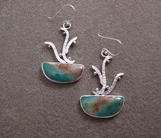 Sterling Silver Gemstone Cabochon Metalwork Blue by bluepiranha