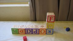 Twins 1st birthday ABC/123 block theme.   Blocks to spell names.