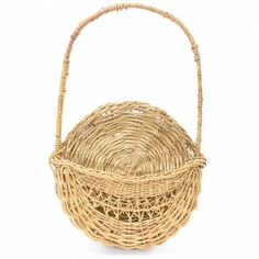 Wall baskets are something that definitely deserves to be more popular. A wall basket such as this beautiful Chinese woven wicker hanging wall basket can add a ton of style and beauty to any home and be much more effective than a simple vase or flower pot. #bohemian #decor #baskets&weavings #sandiegovintage #vintagefurniture