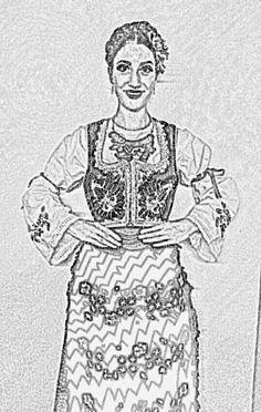 Serbian traditional wear from the region of Sumadija.