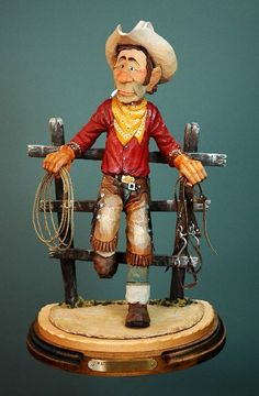""""""" Waiting on a good one"""" carved by Lynn Doughty"""