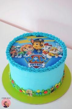New birthday cake kids boys paw patrol 25 ideas Bolo Do Paw Patrol, Paw Patrol Torte, Paw Patrol Cupcakes, Rubble Paw Patrol Cake, Paw Patrol Chase Cake, Birthday Cake Kids Boys, 3rd Birthday Cakes, Birthday Ideas, Birthday Cards