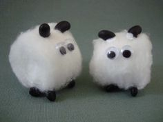 Little Boy Blue.  Cotton ball sheep for Nursery Rhyme unit.