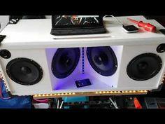 YouTube Diy Subwoofer, Subwoofer Box Design, Speaker Box Design, Diy Bluetooth Speaker, Diy Speakers, Diy Boombox, Radios, Car Audio Installation, Speaker Plans