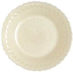 """Amazon.com: Glass Fleur De Lis Rim Cream Charger Plate, Set of 2 - 12.5""""D: Kitchen & Dining"""