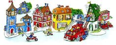 Richard Scarry's 92nd Birthday #GoogleDoodle - RICHARD SCARRY!