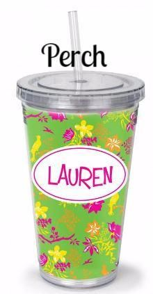 Personalized Acrylic Straw Tumblers in 34 Designs! - BeauJax Boutique Sip on your favorite drink in style with our Personalized Acrylic Straw Tumblers! These 16 oz cups are customized with your choice of pattern, name, monogram or custom text. Monogrammed tumblers come with a reusable straw and are BPA free. Keeps drinks cool for hours! Great for girls weekend, a party, outdoor activities or to give as a gift on any occasion. www.beaujax.com