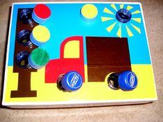 Fun learning and development of motor skills Toddler Learning Activities, Motor Activities, Sensory Activities, Infant Activities, Fun Learning, Teaching Kids, Preschool Crafts, Crafts For Kids, Transportation Theme