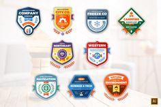 Modern Badges by Ember Studio on @creativemarket