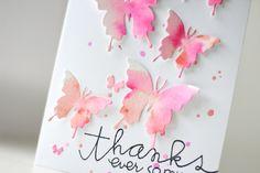 Watercolor Butterflies Card | Kalyn Kepner for Paper Smooches