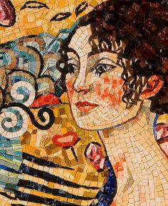 Donna con Ventaglio - Silvia Danelutti mosaici artistici