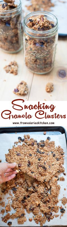 With a special baking method and a few helpful tips you can make your own granola at home that binds together into snackable little clusters. ~ http://www.fromvalerieskitchen.com