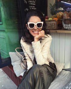 MAX&Co. Irma Oganova Wearing #maxandco #popcover #sunglasses #irmaoganova https://www.instagram.com/hey_irma/