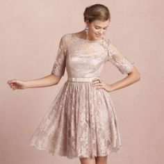 From rustic to formal, there's a lace bridesmaid dress to suit every type of wedding. Photo via BHLDN.