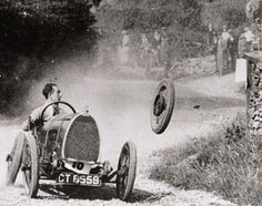 Every Bugatti enthusiast is very familiar with this photograph. It shows Raymond Mays at the Shelsley Walsh mountain race in Wales in 1924.