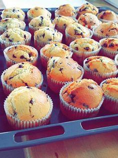 Muffins nutella et pépites de chocolat