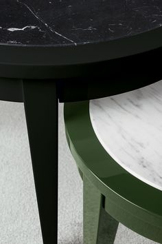 Details from the occasional tables Orfeo, manufactured by Oasis Group, with wooden structure and marble top. #luxury #marble #interiordesign