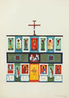 Bez tytułu, 1967 r. (Asuny) Religious Paintings, Religious Art, Catholic Art, Orthodox Icons, Sacred Art, Christian Art, Byzantine, Christianity, Modern Art