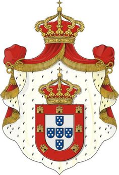 Coat of Arms of the Kingdom of Portugal §Blason royaume de portugal… Portuguese Empire, Portuguese Culture, Visit Portugal, Lisbon Portugal, Dom Manuel, History Of Portugal, Banner, Asian History, British History