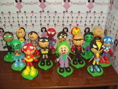Dareliart: Heróis kit com 15 - Encomenda da Carina