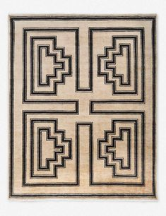 Made entirely by hand in Bhadoi, India - this rug is beautifully crafted. This bold area rug is the perfect addition to a room if youre looking to make a statement. We love the wide, structured lines and neutral background for just the right amount of modern appeal. Plus, its hand-knotted from 100% wool for extra durability.