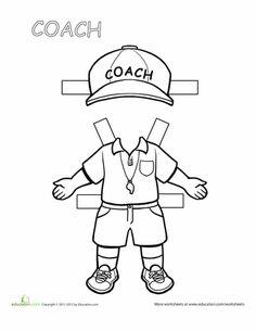 Coach Paper Doll
