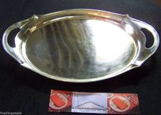 Search by seller - FineThings4sale - to view our family estate items.  GORHAM STERLING HANDLED WAITER TRAY DEMITASSE AFTER DINNER COCKTAIL SERVICE TRAY