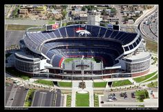 Sports Authority Field at Mile High Stadium in Denver, Colorado