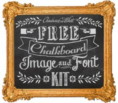 If you've ever admired the blackboard images that are so popular right now, then you'll love this FREE chalkboard fonts and images kit.