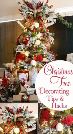 How to decorate a Christmas tree. Decorating tips and Christmas decor hacks shared by Toni of Design Dazzle. #michaelsmakers