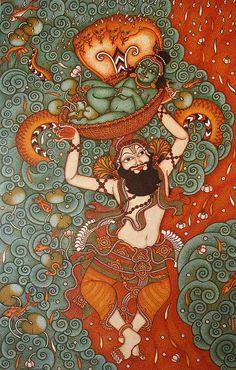 Kalamkari Painting, Krishna Painting, Madhubani Painting, Krishna Art, Lord Krishna, Kerala Mural Painting, Indian Art Paintings, Cave Painting, Indian Art Gallery