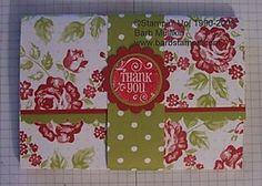 Barb Stamps: Creating a Pouch for Note Cards [Pouch for Notecards] #tutorial for making the pouch and four cards; pictured: finished exterior of pouch