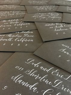 The Ginger Pen Lettering Studio - hand lettering, calligraphy, modern calligraphy Brush Lettering, Hand Lettering, Addressing Envelopes, Modern Calligraphy, Note Cards, Gift Tags, Studio, Gifts, Index Cards