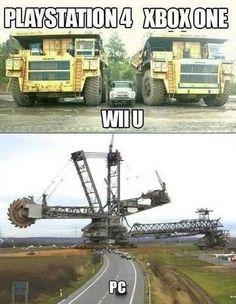 PC vs. Xbox One vs. Playstation 4 vs. Wii U - www.meme-lol.com