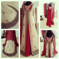 Really lovely use of white on traditional Red shaadi dress