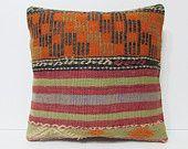 "rustic throw pillow 18"" ethnic rug pillow kilim pillow case handmade cushion patio cushion patio pillow cover decorative pillow couch 20235"