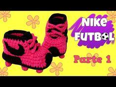 Zapatitos Nike de fútbol tejidos a crochet   parte 1/2 - YouTube