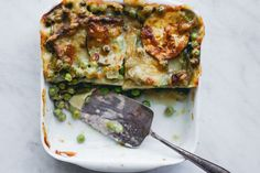 Green Vegetables Lasagna with Zucchini, Peas, and Green Beans ; pasta ; vegetarian ; healthy ; summer